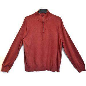 🍁 J CREW Quarter Zip Sweater Cotton Wool Blend